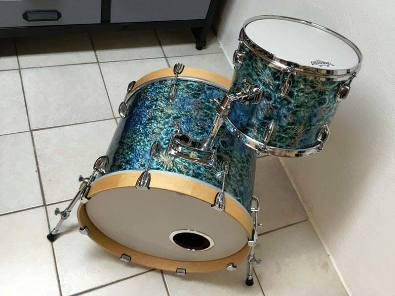 Das erste mal das neue Drum Set aufgebaut.