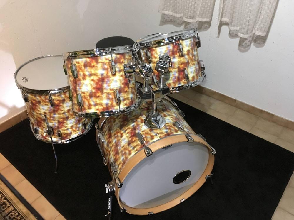 Das komplette Yamaha Set zum ersten mal aufgebaut.